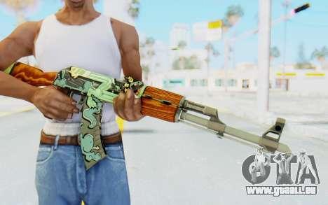 CS:GO - AK-47 Fire Serpent für GTA San Andreas dritten Screenshot