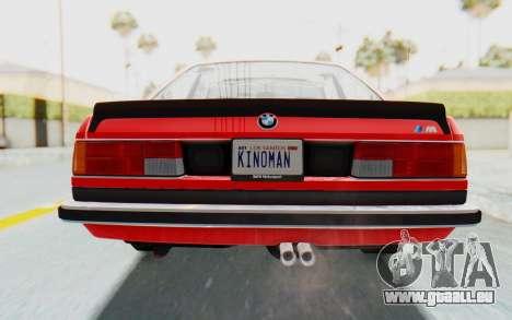 BMW M635 CSi (E24) 1984 IVF PJ2 für GTA San Andreas obere Ansicht