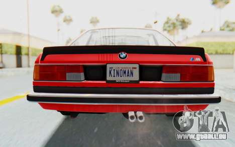 BMW M635 CSi (E24) 1984 IVF PJ2 pour GTA San Andreas vue de dessus