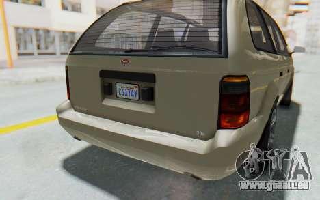 GTA 5 Vapid Minivan IVF pour GTA San Andreas vue de dessous