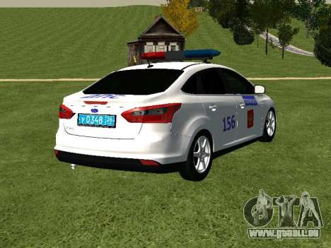 Ford Focus ДПС für GTA San Andreas zurück linke Ansicht
