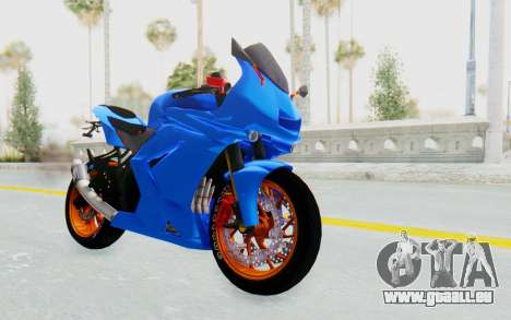 Kawasaki Ninja 250R Streetrace pour GTA San Andreas vue de droite