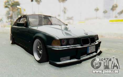 BMW 325tds E36 pour GTA San Andreas vue de droite