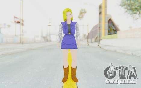 Dragon Ball Xenoverse Android 18 Showing Legs für GTA San Andreas zweiten Screenshot
