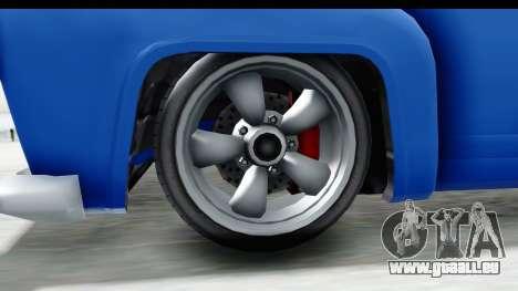 GTA 5 Vapid Slamvan without Hydro IVF pour GTA San Andreas vue arrière