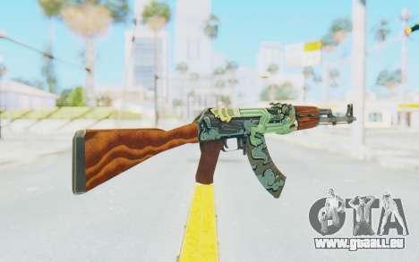 CS:GO - AK-47 Fire Serpent für GTA San Andreas zweiten Screenshot