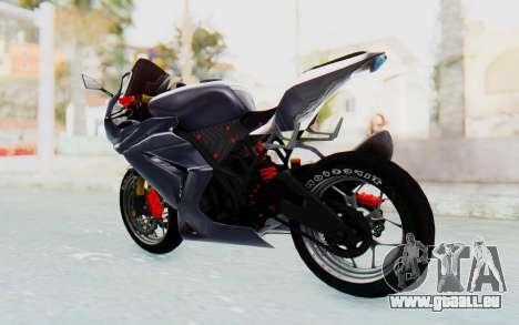 Kawasaki Ninja 250R Streetrace v2 für GTA San Andreas zurück linke Ansicht