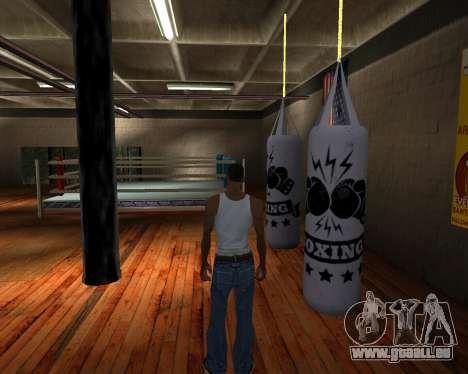 Poire De Boxe pour GTA San Andreas deuxième écran