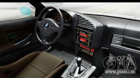 BMW M3 E36 Stance Lithuanian Police pour GTA San Andreas vue intérieure