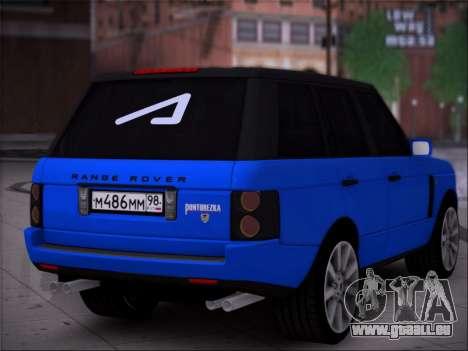 Range Rover Sport Pintoresca pour GTA San Andreas laissé vue
