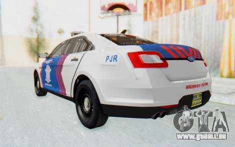 Ford Taurus Indonesian Traffic Police für GTA San Andreas rechten Ansicht