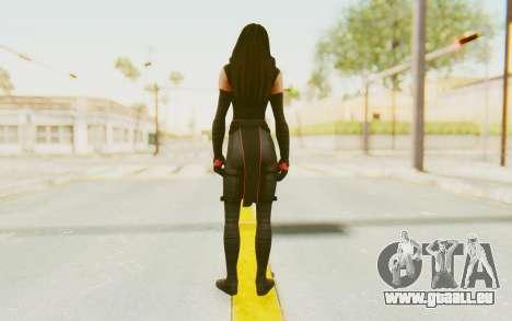 Marvel Heroes - Elektra pour GTA San Andreas troisième écran