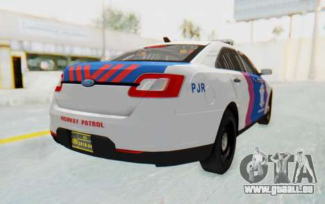 Ford Taurus Indonesian Traffic Police für GTA San Andreas linke Ansicht