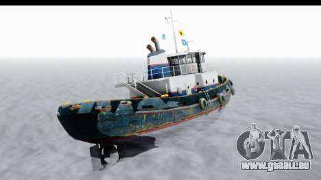 GTA 5 Buckingham Tug Boat v2 IVF für GTA San Andreas rechten Ansicht