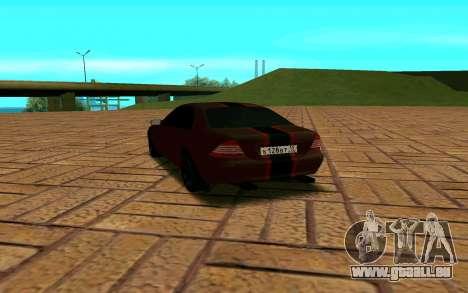 Mercedes S600 W220 JoRick Revazov pour GTA San Andreas sur la vue arrière gauche