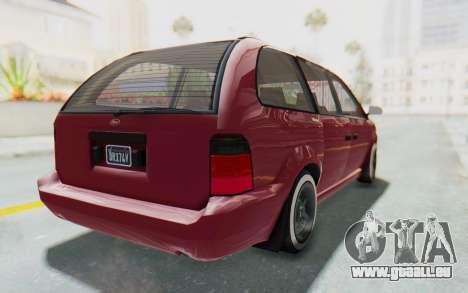 GTA 5 Vapid Minivan Custom without Hydro pour GTA San Andreas laissé vue
