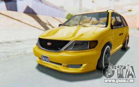 GTA 5 Vapid Minivan Custom IVF pour GTA San Andreas