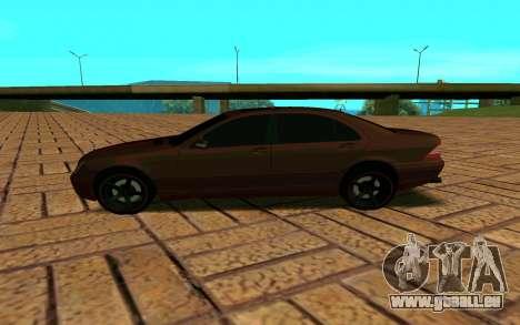 Mercedes S600 W220 JoRick Revazov pour GTA San Andreas laissé vue