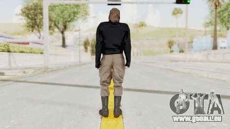 MGSV Phantom Pain BIG BOSS Leather Jacket pour GTA San Andreas troisième écran