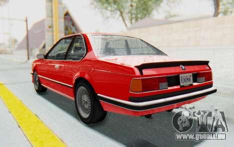 BMW M635 CSi (E24) 1984 IVF PJ2 pour GTA San Andreas laissé vue
