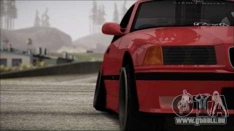 BMW E36 Stance für GTA San Andreas obere Ansicht