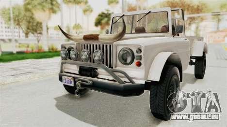 GTA 5 Canis Bodhi pour GTA San Andreas vue de droite