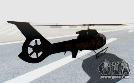 GTA 5 Maibatsu Frogger Trevor für GTA San Andreas zurück linke Ansicht