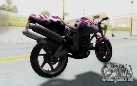 FCR-900 Custom v2 pour GTA San Andreas sur la vue arrière gauche