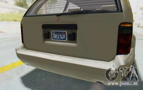 GTA 5 Vapid Minivan Custom without Hydro IVF für GTA San Andreas Innen