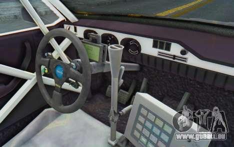 Dacia 1300 Rally pour GTA San Andreas vue intérieure