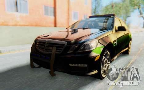 Mercedes-Benz E63 German Police Green pour GTA San Andreas