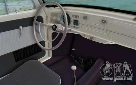 Volkswagen Beetle 1200 Type 1 1963 Herbie für GTA San Andreas Innenansicht