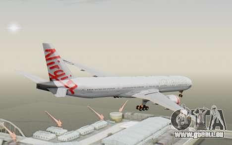 Boeing 777-300ER Virgin Australia v2 pour GTA San Andreas vue de droite