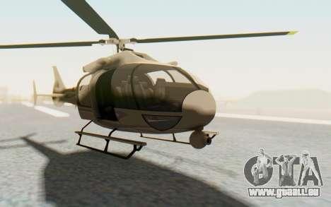 GTA 5 Maibatsu Frogger Civilian pour GTA San Andreas vue de droite