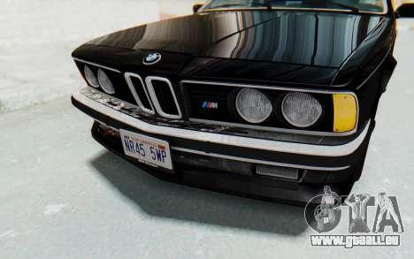 BMW M635 CSi (E24) 1984 IVF PJ3 pour GTA San Andreas vue de dessus