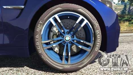 GTA 5 BMW M4 2015 v0.01 hinten rechts