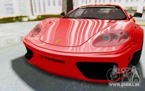 Ferrari 360 Modena Liberty Walk LB Perfomance v2 pour GTA San Andreas vue arrière