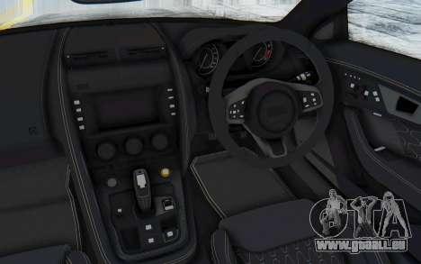 Jaguar F-Type Project 7 pour GTA San Andreas vue intérieure
