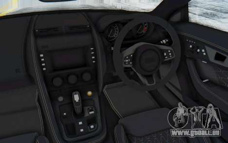 Jaguar F-Type Project 7 für GTA San Andreas Innenansicht