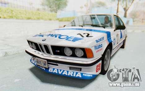 BMW M635 CSi (E24) 1984 IVF PJ3 pour GTA San Andreas