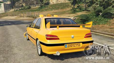 GTA 5 Taxi Peugeot 406 hinten links Seitenansicht