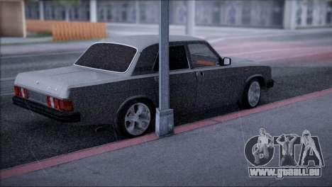 V8 de GAZ 31029 pour GTA San Andreas sur la vue arrière gauche