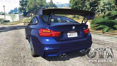 GTA 5 BMW M4 2015 v0.01 hinten links Seitenansicht