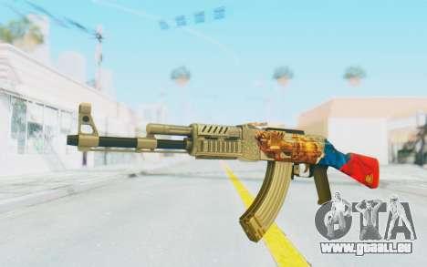 AK-47A1 Russian Flag für GTA San Andreas zweiten Screenshot