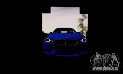 BMW M5 F10 G-Power für GTA San Andreas obere Ansicht
