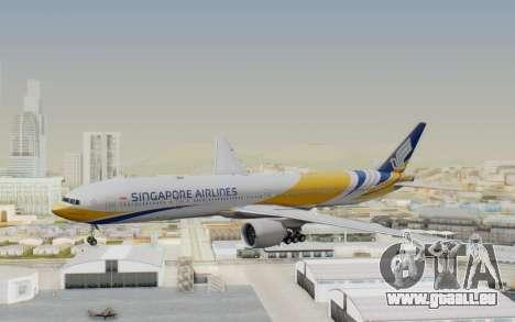 Boeing 777-300ER Singapore Airlines v2 pour GTA San Andreas sur la vue arrière gauche