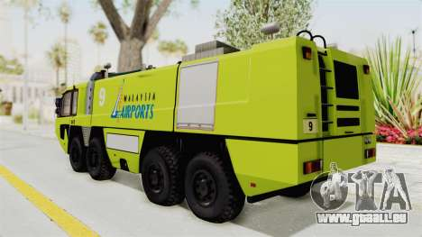 Rosenbauer Panther 8x8 Malaysia Airports für GTA San Andreas linke Ansicht