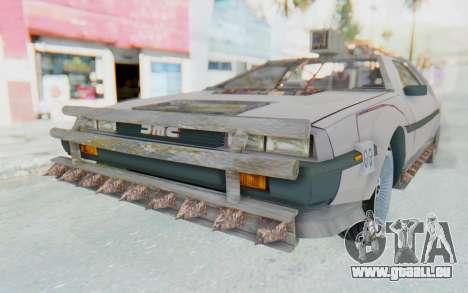 DeLorean DMC-12 2012 End Of The World für GTA San Andreas zurück linke Ansicht