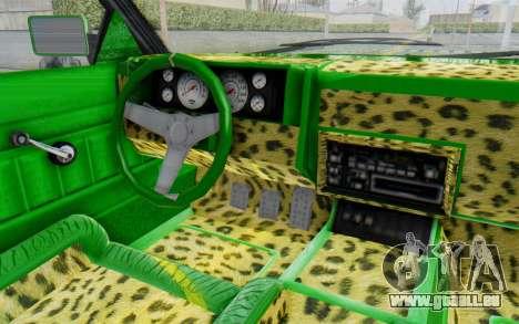 GTA 5 Willard Faction Custom Donk v3 pour GTA San Andreas vue intérieure