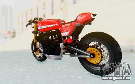 Honda CB750 Moge Cafe Racer für GTA San Andreas linke Ansicht
